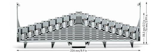 Rangierklemme 7.62 mm Zugfeder Belegung: L Grau WAGO 727-119 25 St.