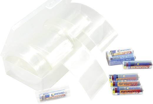 Akkuschrumpfschlauch ohne Kleber Transparent Schrumpfrate:2:1 Conrad Components 542395 SI-105