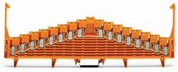 Borne équipotentielle WAGO 727-136/002-000 7.62 mm ressort de traction orange 25 pc(s)