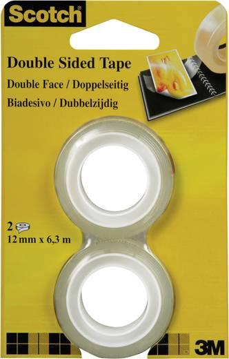 Doppelseitiges Klebeband 3M Scotch® 665 Transparent (L x B) 6.3 m x 12 mm Inhalt: 2 Rolle(n)