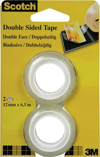 Doppelseitiges Klebeband Scotch® 665 Transparent (L x B) 6.3 m x 12 mm 3M 7100038014 2 Rolle(n)
