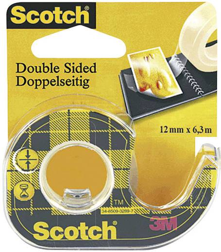 Doppelseitiges Klebeband Scotch® 665 Transparent (L x B) 7.9 m x 12 mm 3M 7000052309 1 Rolle(n)