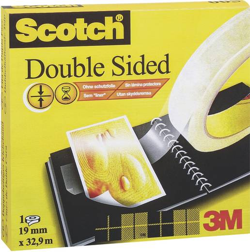 Doppelseitiges Klebeband 3M Scotch® 666 Transparent (L x B) 33 m x 19 mm Inhalt: 1 Rolle(n)