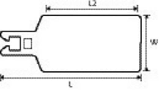 Leitermarkierer Beschriftungsfläche: 70 x 42 mm Weiß HellermannTyton QT7040R 151-10951 1 St.
