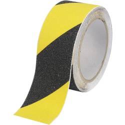 Anti-slip tape TOOLCRAFT ANST509M-YB 1563974, (d x š) 9 m x 50 mm, čierna, žltá, 1 ks