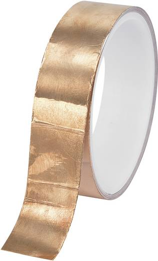 Kupferklebeband Conrad Components CFT-50 Kupfer (L x B) 10 m x 50 mm Acryl Inhalt: 1 Rolle(n)