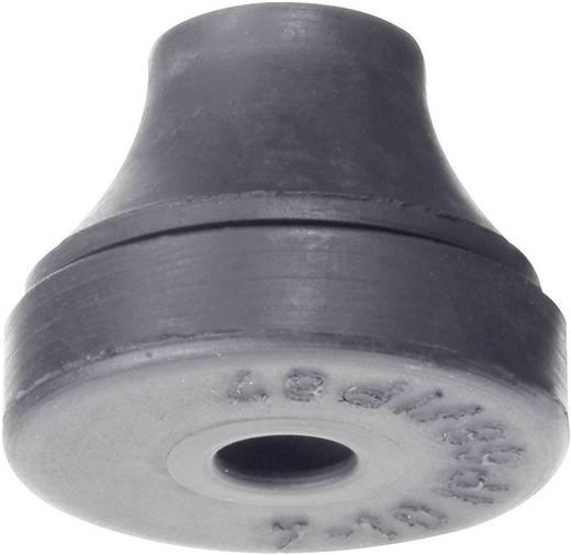 PB Fastener 1200-CR-SW Kabeldurchführung Klemm-Ø (max.) 5 mm Chloropren-Kautschuk Schwarz 1 St.