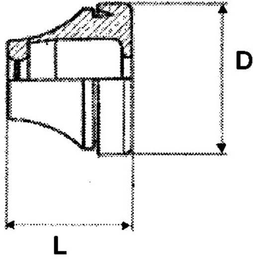 PB Fastener 1101-CR-SW Kabeldurchführung Klemm-Ø (max.) 7 mm Chloropren-Kautschuk Schwarz 1 St.
