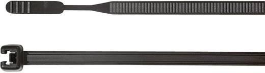 HellermannTyton 109-00076 Q50R-W-BK-C1 Kabelbinder 210 mm Schwarz mit offenem Binderende, UV-stabilisiert 100 St.