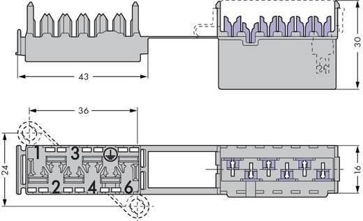 Verbindungsklemme starr: 0.75-1.5 mm² Polzahl: 6 WAGO 50 St. Grau