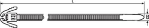 Kabelbinder 200 mm Schwarz mit Flügelverschluss, Lösbar HellermannTyton 115-40200 REZ200-N66-BK-C1 1 St.