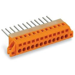 Pružinová svorka WAGO 731-171/048-000, 2.50 mm², Počet pinov 11, oranžová, 10 ks