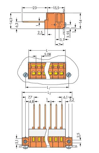Federkraftklemmblock 2.50 mm² Polzahl 3 WAGO Orange 50 St.