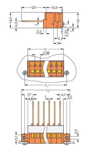 Federkraftklemmblock 2.50 mm² Polzahl 6 731-166/048-000 WAGO Orange 25 St.