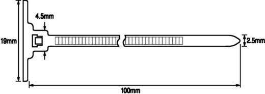 Kabelbinder 100 mm Natur mit Klebesockel HellermannTyton 148-00001 T18RSA-PA66-NA-C1 1 St.