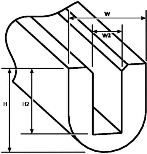 EdgeGuard Kantenschutz RA1-PVC-BK-75M HellermannTyton Inhalt: Meterware