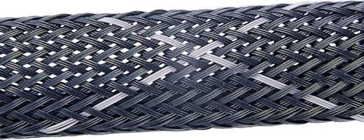 Geflechtschlauch Schwarz, Grau Polyester 4 bis 16 mm HellermannTyton 170-50090 HEGPV0X09-PBT-BK-CA Meterware