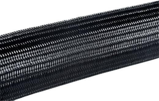 Helagaine Geflechtschlauch Bündelbereich-Ø: 7 - 12 mm HEGPA6610-N66-BK-C4;HellermannTyton Inhalt: Meterware