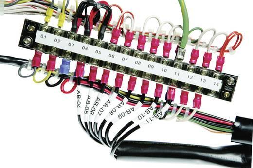 Schrumpfschlauchmarkierer Montage-Art: aufschieben Beschriftungsfläche: 24 x 8 mm Passend für Serie Einzeldrähte, Universaleinsatz Weiß HellermannTyton HST24-8WH-S 553-50040 1 St.