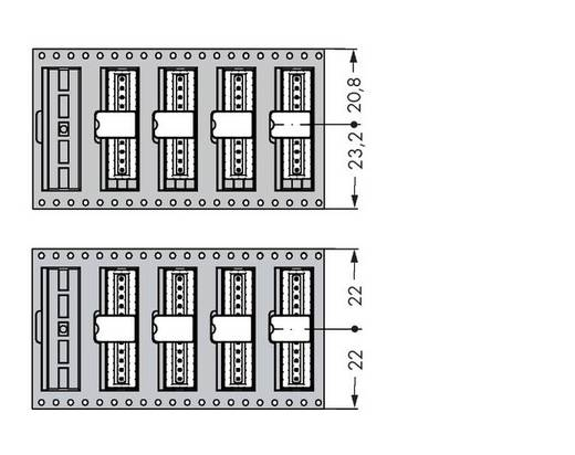 WAGO Stiftleiste (Standard) 2092 Polzahl Gesamt 4 Rastermaß: 2.50 mm 733-334/105-604/997-446 290 St.