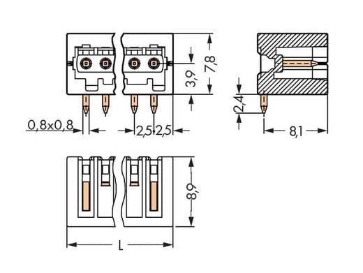 Stiftleiste (Standard) 2092 Polzahl Gesamt 2 WAGO 733-362/105-604 Rastermaß: 2.50 mm 200 St.