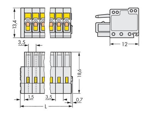 Buchsengehäuse-Kabel 734 Polzahl Gesamt 13 WAGO 734-113 Rastermaß: 3.50 mm 50 St.