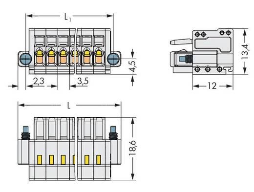 WAGO 734-120/107-000 Buchsengehäuse-Kabel 734 Polzahl Gesamt 20 Rastermaß: 3.50 mm 25 St.