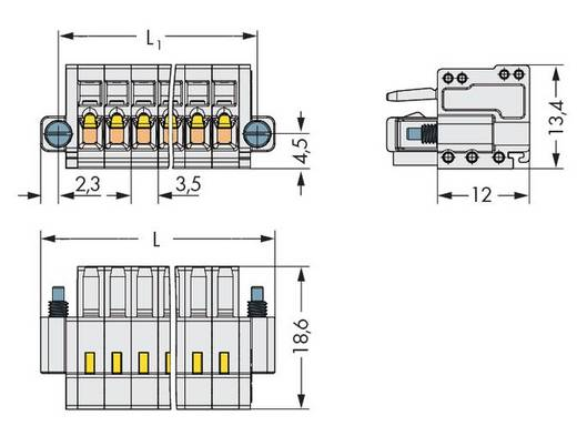 WAGO Buchsengehäuse-Kabel 734 Polzahl Gesamt 18 Rastermaß: 3.50 mm 734-118/107-000 25 St.