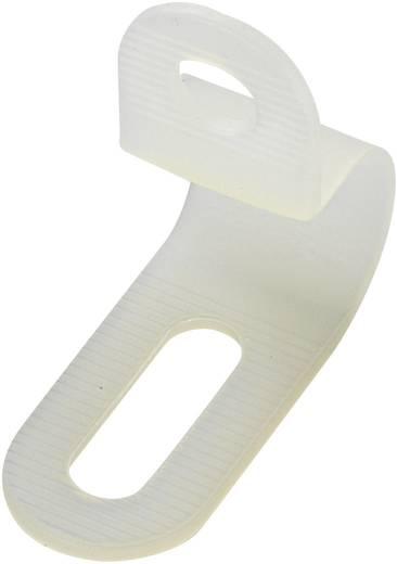 Befestigungsschelle schraubbar Weiß KSS 28530c753 PC-0609 1 St.