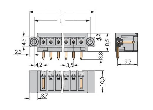 WAGO Stiftleiste (Standard) 2140 Polzahl Gesamt 20 Rastermaß: 3.50 mm 734-180/108-000 50 St.