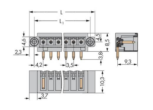 WAGO Stiftleiste (Standard) 2140 Polzahl Gesamt 6 Rastermaß: 3.50 mm 734-166/108-000 100 St.