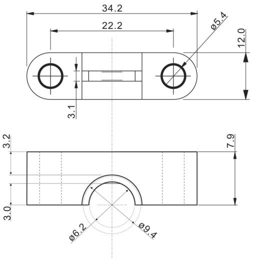 Zugentlastung Klemm-Ø (max.) 4.5 mm Polyamid 6.6 Schwarz 1 St.