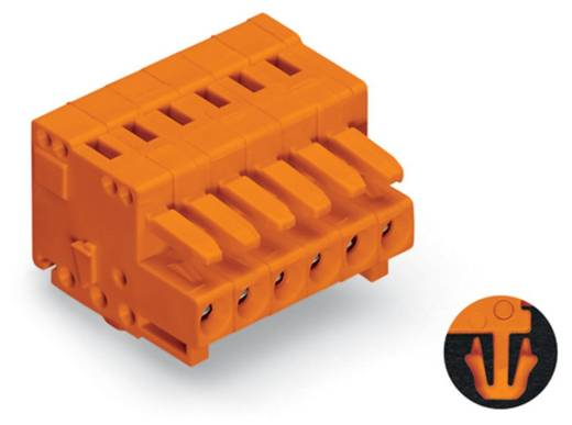 WAGO 734-205/008-000 Buchsengehäuse-Kabel 734 Polzahl Gesamt 5 Rastermaß: 3.81 mm 100 St.