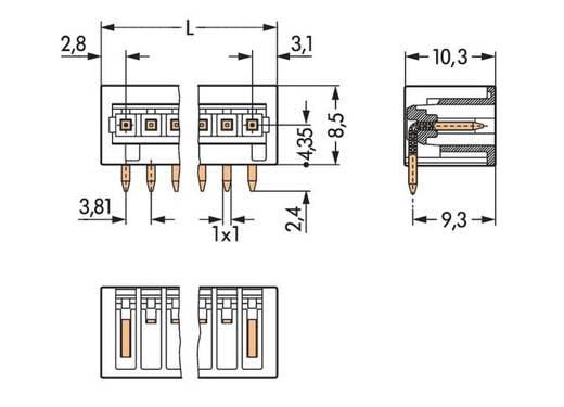 Stiftleiste (Standard) 2140 Polzahl Gesamt 6 WAGO 734-266/105-604 Rastermaß: 3.81 mm 100 St.