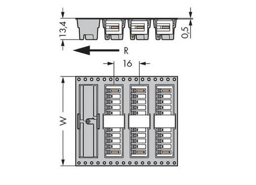 WAGO 734-263/105-604/997-405 Stiftleiste (Standard) 2140 Polzahl Gesamt 3 Rastermaß: 3.81 mm 280 St.