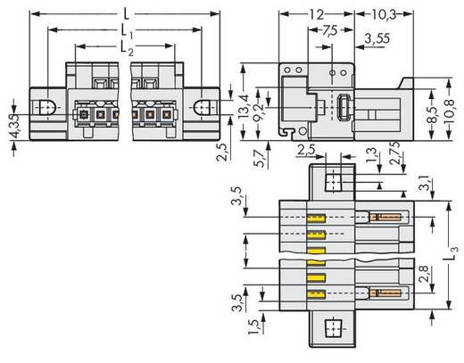 Stiftleiste (Standard) 2140 Polzahl Gesamt 7 WAGO 734-307/019-000 Rastermaß: 3.50 mm 50 St.
