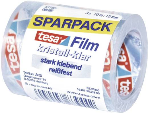 tesafilm tesa tesafilm® Transparent (L x B) 10 m x 15 mm Inhalt: 3 Rolle(n)