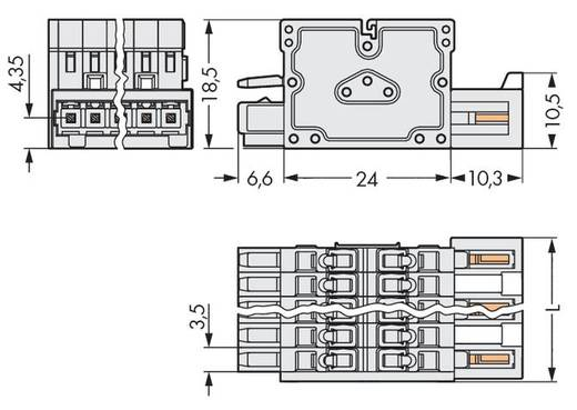 WAGO 734-366 Kombileiste 2140 Polzahl Gesamt 6 Rastermaß: 3.50 mm 50 St.