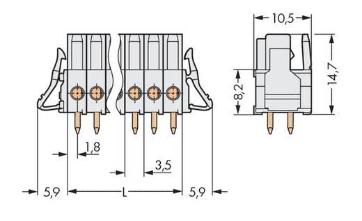 WAGO Buchsengehäuse-Platine 734 Polzahl Gesamt 10 Rastermaß: 3.50 mm 734-470/037-000 50 St.