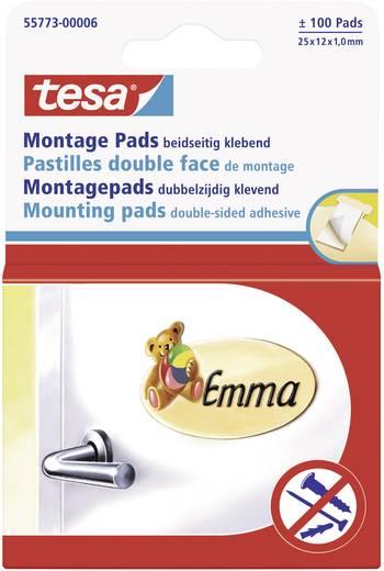 tesa® Montage-Pads (L x B) 25 mm x 12 mm Weiß 55773 tesa Inhalt: 1 Pckg.