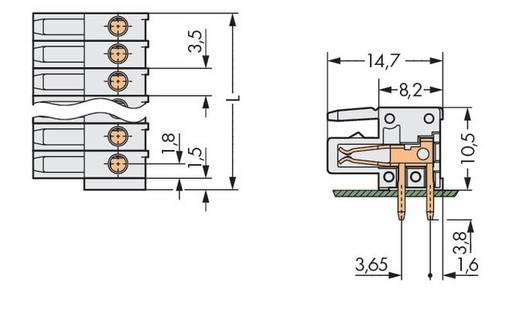 Buchsengehäuse-Platine 734 Polzahl Gesamt 13 WAGO 734-543 Rastermaß: 3.50 mm 50 St.