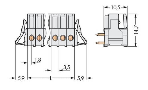 Buchsengehäuse-Platine 734 Polzahl Gesamt 14 WAGO 734-544/037-000 Rastermaß: 3.50 mm 25 St.