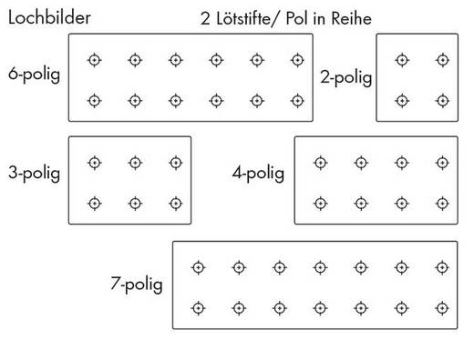 Federkraftklemmblock Polzahl 7 735-307 WAGO Grau 140 St.