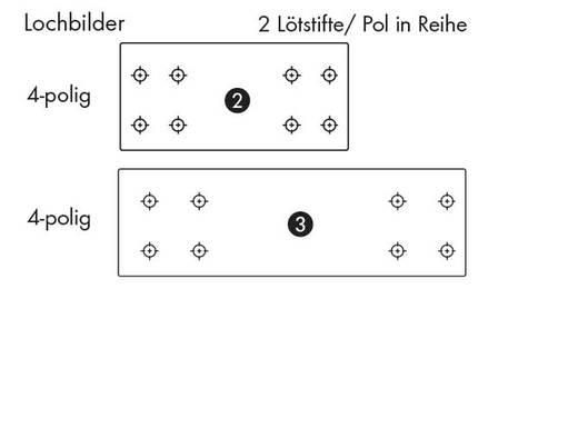 Federkraftklemmblock Polzahl 4 735-306/001-000 WAGO Grau 160 St.
