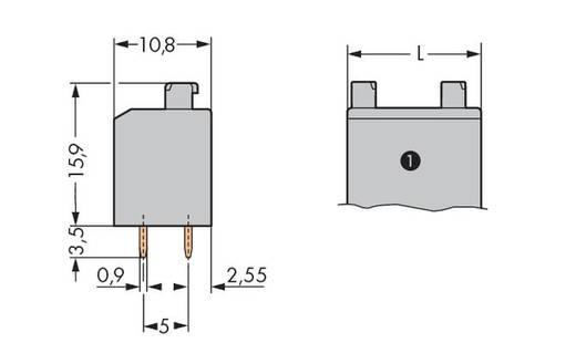 Federkraftklemmblock Polzahl 5 735-306/003-000 WAGO Grau 160 St.