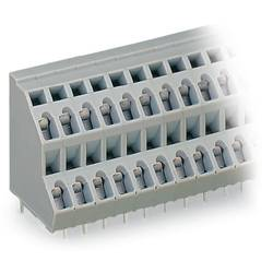 Dvojradový svorka WAGO 736-116, 2.50 mm², Počet pinov 32, sivá, 21 ks