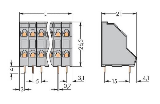 Doppelstockklemme 2.50 mm² Polzahl 32 WAGO Grau 21 St.