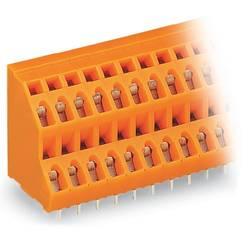 Dvojradový svorka WAGO 736-316, 2.50 mm², Počet pinov 32, oranžová, 21 ks