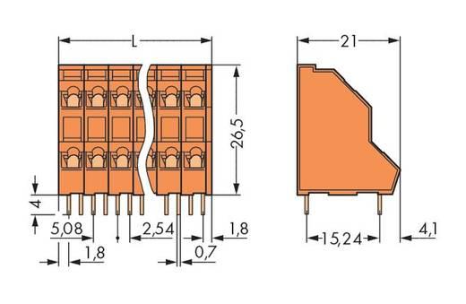 Doppelstockklemme 2.50 mm² Polzahl 8 WAGO Orange 84 St.