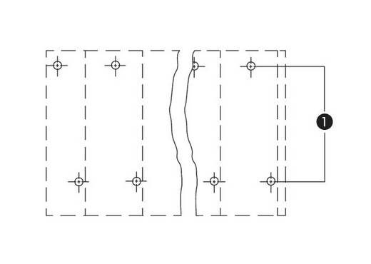 Doppelstockklemme 2.50 mm² Polzahl 8 WAGO Grau 63 St.